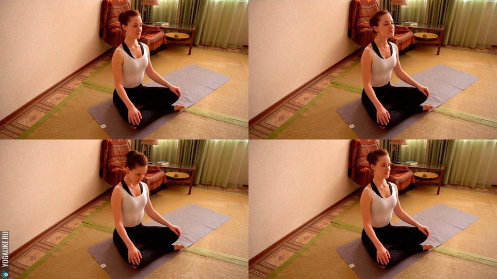 Йога для шеи: рисуем подбородком вертикальные круги