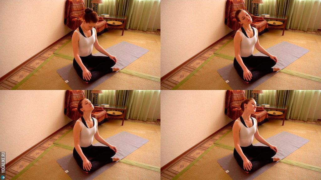Йога для шеи: вращаем головой