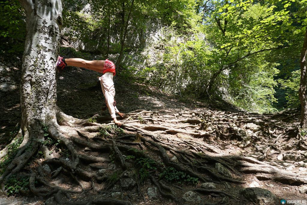 Йога на Большом каньоне Крыма